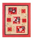 Spanish Farm Gallo Rooster Throw Blanket To Cover Your Warm Bed Brand C&F