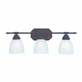 Spectacular 3 Light Vanity Lighting in Oil Rubbed Bronze by Yosemite Home Decor