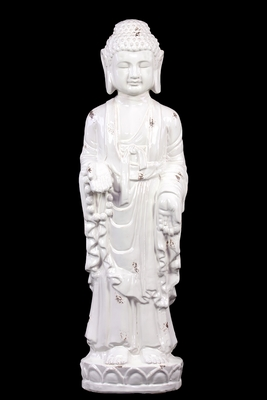 Spectacular and Graceful Ceramic Glossy Standing Buddha