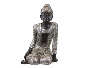 Spectacular and Marvelous Resin Sitting Buddha by Urban Trends Collection