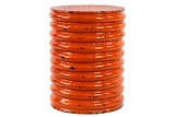Spectacular Glossy Orange String Style Metal Stool