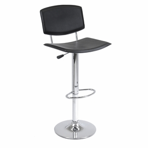Spectacular Spectrum Air Lift Stool with Curved Black Seat by Winsome Woods