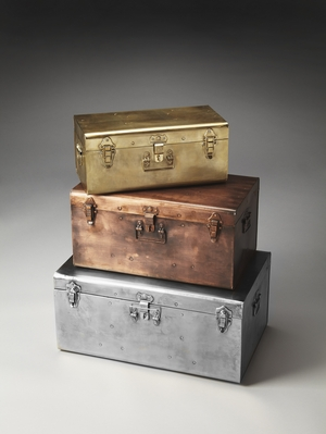 "Spirit Iron Storage Trunk Set L: 24""W by Butler Specialty"