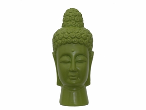Spiritual Attractive Buddha Head Green by Urban Trends Collection