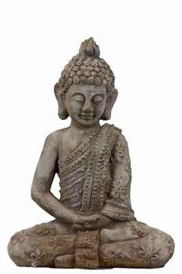 Spiritual Cement Sitting Buddha Antique Finish by Urban Trends Collection