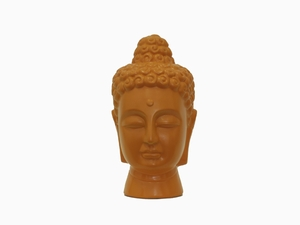 Spiritual Ceramic Buddha Head in Orange Color