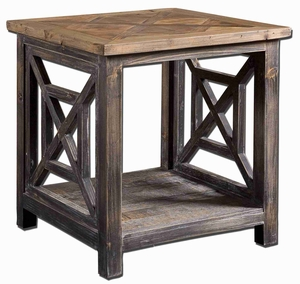 Spiro Reclaimed Wood Table With Natural Wood Undertones Brand Uttermost
