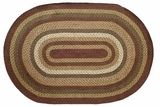 Splendid and Magical Tea Cabin Jute Rug Oval by VHC Brands