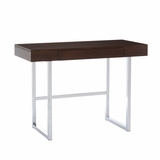 Splendid Brooklyn Desk Espresso and Chrome by Southern Enterprises