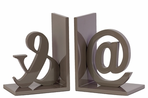 Splendid Grey Set of Two gorgeous Wooden Bookends