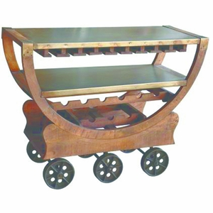 Splendid Wine Cart with wheels by Yosemite Home Decor