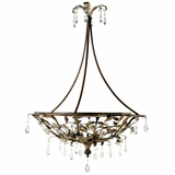 Splendido Collection Attractive 4 Lights Pendant Lighting in Oxido with Gold High Light by Yosemite Home Decor