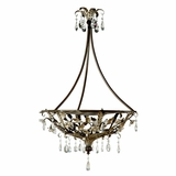 Splendido Collection Beautiful 3 Light Pendant Lighting in Oxido with Gold High Light by Yosemite Home Decor
