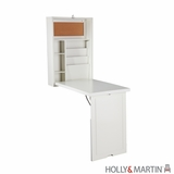 Spotless White Wooden Leo Convertible Desk by Southern Enterprises