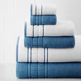 Spring Bloom 6 pc quick dry towel set Blue by Amrapur Overseas