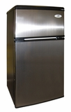 SPT-RF-322SS-3.2 cu.ft.-Double Door Refrigerator with Energy Star - Stainless by Sunpentown