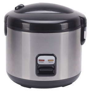 SPT-SC-1202SS-6-cups Rice Cooker with Stainless Body by Sunpentown