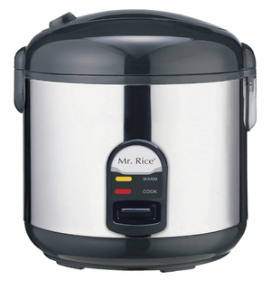SPT-SC-1812S 10-cups Rice Cooker with Stainless Body by Sunpentown