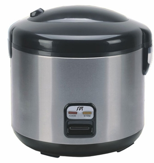 SPT-SC-1813SS 10-cups Rice Cooker with Stainless Body by Sunpentown