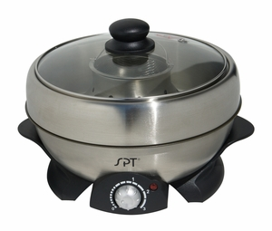 SPT-SS-301 Multi-Cooker: Shabu-Shabu & Grill by Sunpentown