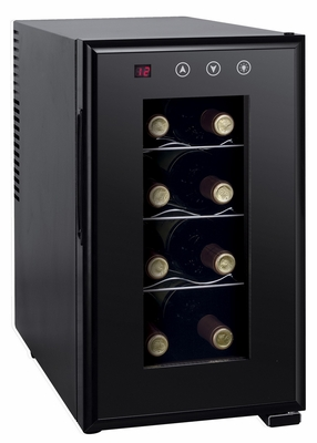SPT-WC-0888H-8-bottle Thermo-Electric Slim Wine Cooler with Heating by Sunpentown