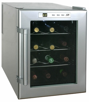 SPT-WC-12-12-bottle Thermo-Electric Wine Cooler with Heating by Sunpentown