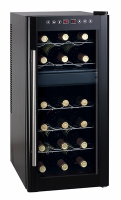 SPT-WC-1857DH-18-bottle Dual-Zone Thermo-Electric Wine Cooler with Heating by Sunpentown