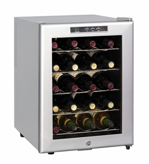SPT-WC-20SD-20-bottle Thermo-Electric Wine cooler with Platinum Trim by Sunpentown