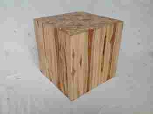 Square Klaten Stool Made of 100% Teak with Natural Polish Finish Brand Woodland