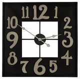 Square Shape Antique Silver Finish Brazos Clock by Cooper Classics