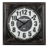 Square Shaped Contemporary Styled Meyer Clock by Cooper Classics