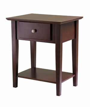 Winsome Wood Square Shaped Wooden Shaker Night Stand with Drawer