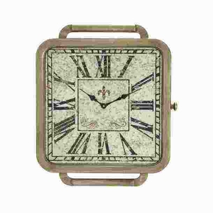 Square Wood Wall Clock with Vintage Allure and Attractive Look Brand Woodland