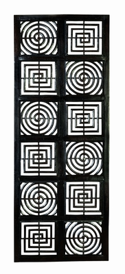 Squares N Circles Hand Carved Wood Wall Decor Sculpture Brand Woodland
