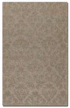 St Petersburg Grey 5' Rug Detailed in Loop and Cut Pile Brand Uttermost