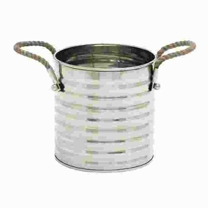 Stainless Steel Stylish Rope Wine Cooler with Subtle Curves Brand Woodland