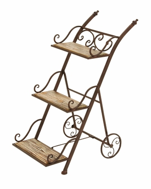 Stair Step Ladder Planter Stand For Your Plants Brand Woodland