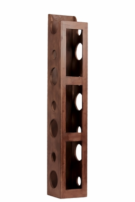 Standing Rectangle Holed Trendy Wine Holder by Urban Trends Collection