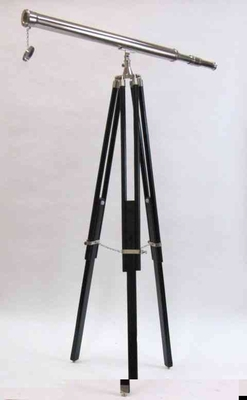 Standing Telescope - Chrome Harbor Telescope With Tripod Brand IOTC