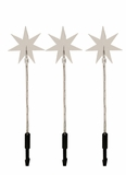 Star Garden Stakes with 30 LED Lights - Set of 3 by Alpine Corp