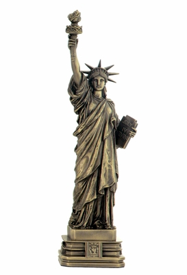 Statue of Liberty with Sturdy Base in Cold Cast Bronze Brand Unicorn Studio