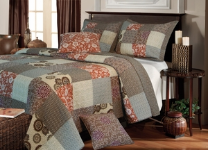 Stella Cotton Quilt Queen Set, With 2 Pillows, 90 Inch X 90 Inch Brand Greenland Home fashions