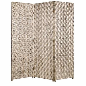 Sterling 3 Panel Screen Crafted with Silver Metallic Finish Brand Screen Gem
