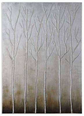 Sterling Trees Hand Painted Art with 3 D Effects Brand Uttermost