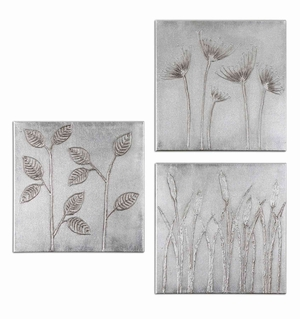 Sterling Trio Wooden Canvas Wall Decor - Set of 3 Brand Uttermost