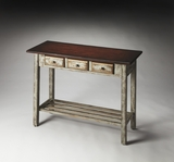"Stinson Rustic Blue & Cherry Console Table 40""W by Butler Specialty"