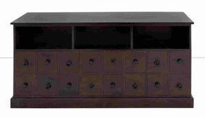 Stockport Sumptuous Sixteen-Drawer Storage Cabinet Brand Benzara