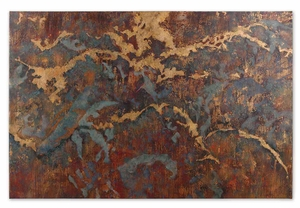 Stormy Night Hand Painted Abstract Wall Decor Brand Uttermost