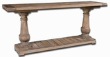 Stratford Rustic Console with Solid Salvaged Fir Wood Brand Uttermost
