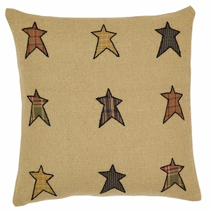 Stratton Applique Star Pillow Cover 16x16